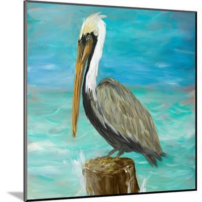 Pelicans on Post I-Julie DeRice-Mounted Print