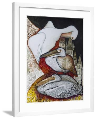 Pelicans-Oxana Zaika-Framed Giclee Print