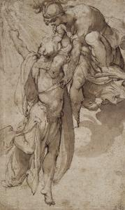 Prometheus, Aided by Minerva, Steals Fire from Heaven by Pellegrino Tibaldi