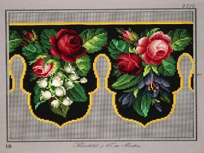 Pelmet Pattern with Roses, Lilies of the Valley and Crocus--Giclee Print