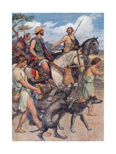 Pelopidas Setting Out for Thebes-William Rainey-Giclee Print