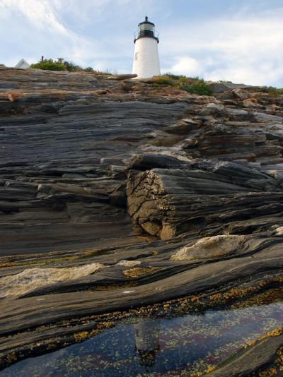 Pemaquid Lighthouse and its Reflection in a Tidal Pool-Darlyne A^ Murawski-Photographic Print
