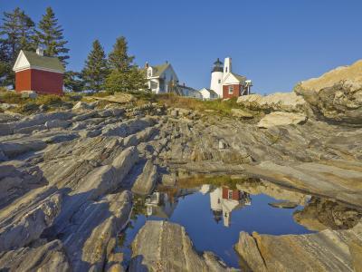Pemaquid Lightouse and Fishermans Museum, Pemaquid Point, Maine, USA-Neale Clarke-Photographic Print