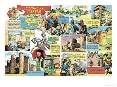 Pembroke Castle-Pat Nicolle-Giclee Print