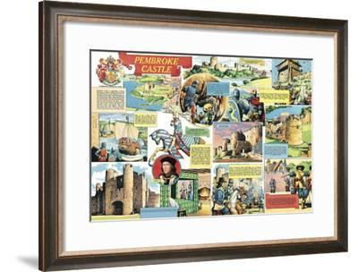 Pembroke Castle-Pat Nicolle-Framed Giclee Print