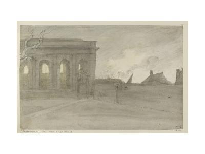 Pembroke Coll. Oxon., 9 November 1786 (Grey and Bistre Washes over Graphite)-John Baptist Malchair-Giclee Print