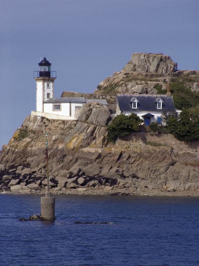 Pen Al Lann Point (Pointe De Pen-Al-Lann) Lighthouse, Carentec, Finistere, Brittany, France-David Hughes-Photographic Print