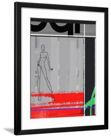 Pencil Fashion-NaxArt-Framed Art Print