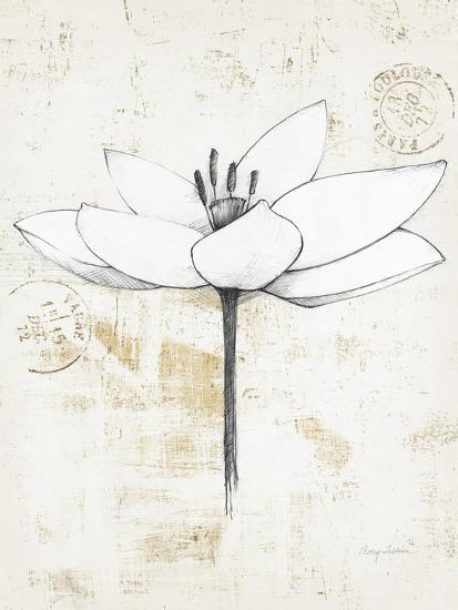 Pencil Floral I Gold Art Print Avery Tillmon Art Com