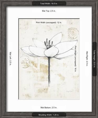 Pencil Floral I Gold Art Print Avery Tillmon Art Com