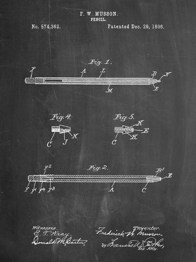 Pencil Patent-Cole Borders-Art Print