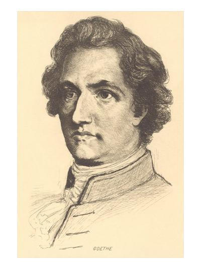 Pencil Sketch of Goethe--Art Print