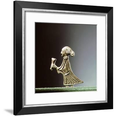 Pendant representing a Valkyrieoffering a horn-Werner Forman-Framed Giclee Print