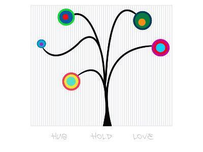 Pendulum Tree Hug Hold Love--Art Print