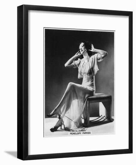 Penelopy Parkes, Actress, 1939--Framed Giclee Print