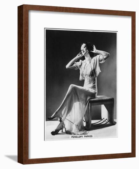 Penelopy Parkes, Actress, 1939--Framed Giclee Print