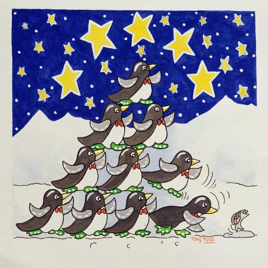 Penguin Formation, 2005-Tony Todd-Giclee Print