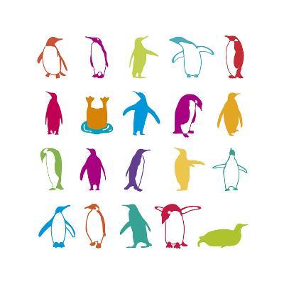 Penguin Fun-Clara Wells-Giclee Print