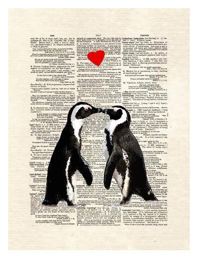 Penguin Lovers-Matt Dinniman-Art Print