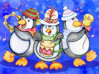 Penguin Percussion-Valarie Wade-Giclee Print