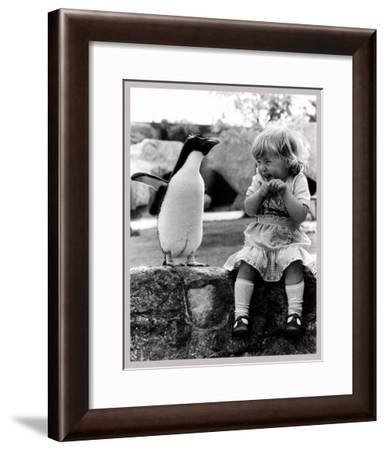 Penguin Show Off--Framed Art Print