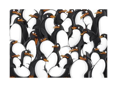 Penguins Pattern- YuanDen-Art Print