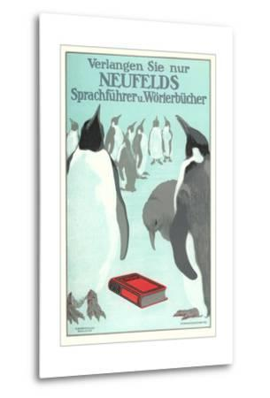 Penguins with Book
