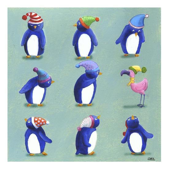 Penguins-Louise Tate-Giclee Print