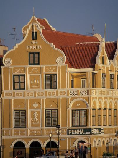 Penha and Sons Building, Willemstad, Curacao, Caribbean-Robin Hill-Photographic Print