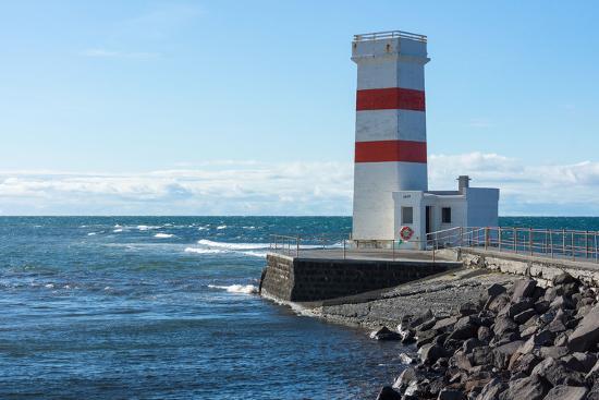 Peninsula Reykjanes, Iceland, Gardskagi, Lighthouse-Catharina Lux-Photographic Print