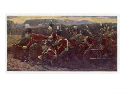 Peninsula War British Troops Under Wellington and General Picton Storm the Garrison at Badajoz--Giclee Print