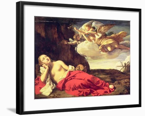 Penitent Mary Magdalene-Guido Cagnacci-Framed Giclee Print