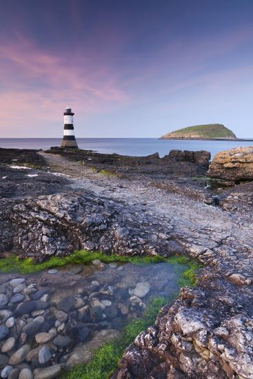 Penmon Point Lighthouse and Puffin Island, Anglesey, North Wales-Adam Burton-Photographic Print