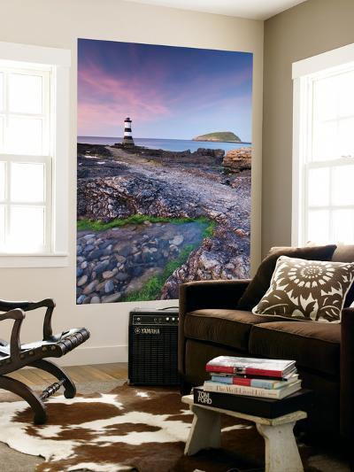 Penmon Point Lighthouse and Puffin Island, Anglesey, North Wales-Adam Burton-Wall Mural