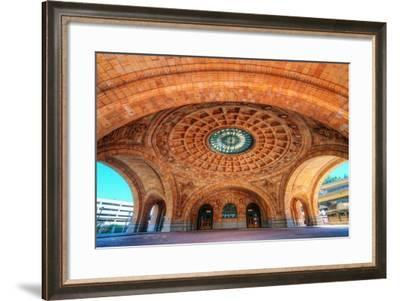 Penn Station is a Historic Train Station on Liberty Avenue in Downtown Pittsburgh, Pennsylvania, US-SeanPavonePhoto-Framed Photographic Print