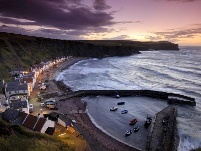 Pennan's Cottages and Boats on the Moray Firth at Twilight-Jim Richardson-Photographic Print