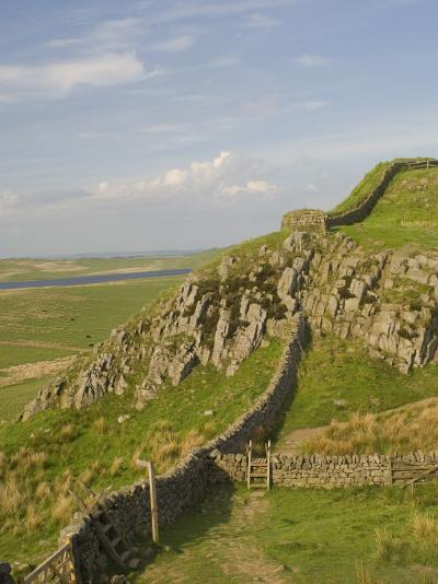 Pennine Way Crossing Near Turret 37A, Hadrians Wall, Unesco World Heritage Site, England-James Emmerson-Photographic Print