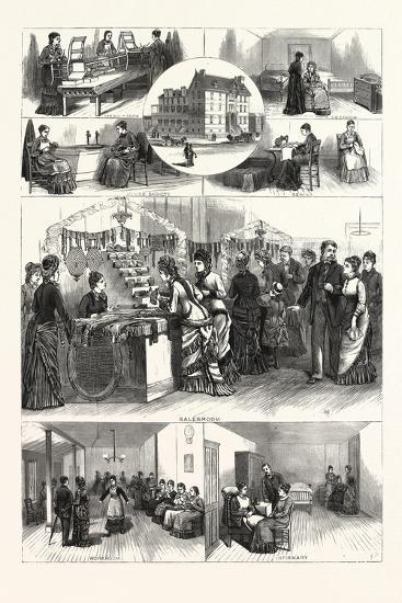 Pennsylvania: an Afternoon in the Industrial Home for Blind Women Philadelphia--Giclee Print