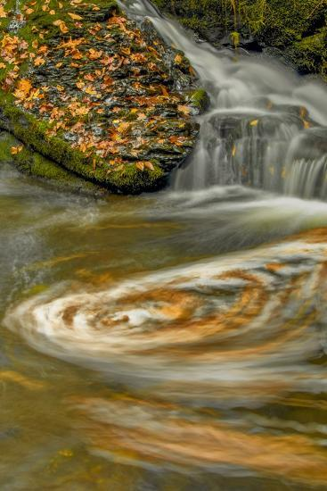 Pennsylvania, Delaware Water Gap NRA. Waterfall and Swirling Pool-Jay O'brien-Photographic Print