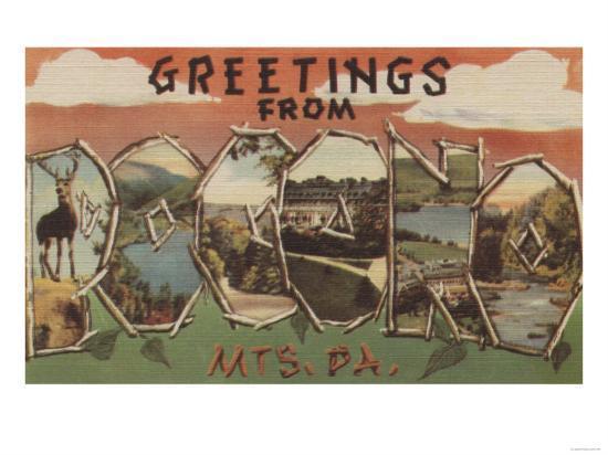Pennsylvania - Pocono Mountians-Lantern Press-Art Print