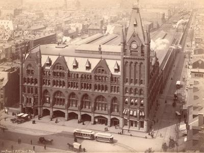 Pennsylvania Railroad Station, Market Street West at Penn Square, 1889