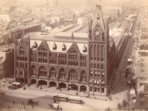 Pennsylvania Railroad Station, Market Street West at Penn Square, 1889