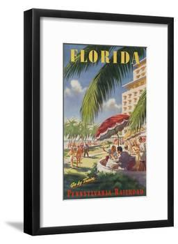 Pennsylvania Railroad Travel Poster, Florida Go by Train-null-Framed Giclee Print