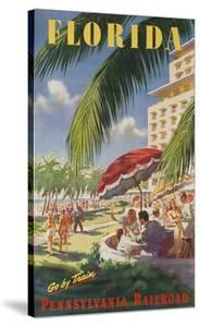 Pennsylvania Railroad Travel Poster, Florida Go by Train