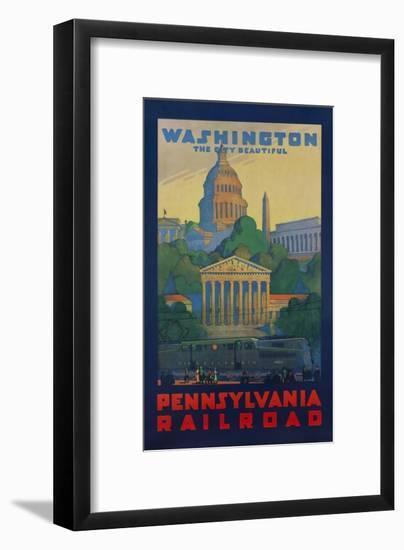Pennsylvania Railroad Travel Poster, Washington the City Beautiful-null-Framed Giclee Print