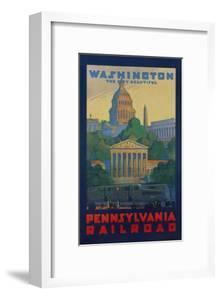 Pennsylvania Railroad Travel Poster, Washington the City Beautiful