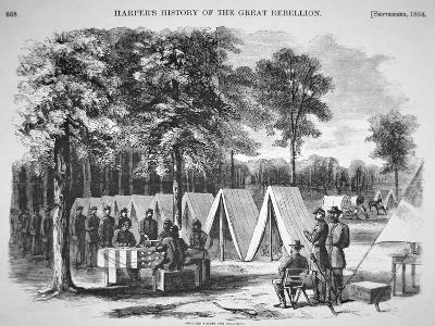 Pennsylvania Soldiers Voting in September, from 'Harper's Weekly', 29th October 1864-Alfred R^ Waud-Giclee Print