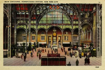 Pennsylvania Station, Main Concourse, New York City, C.1910-30--Giclee Print