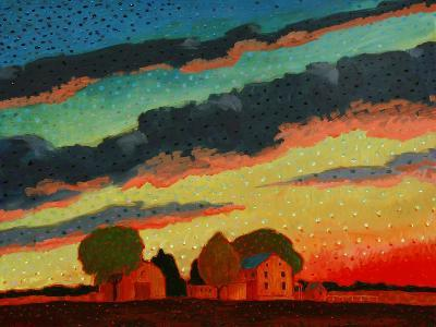 Pennsylvania Sunset-John Newcomb-Giclee Print