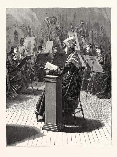 Pennsylvania: the Life Class in the Philadelphia School of Design for Women--Giclee Print